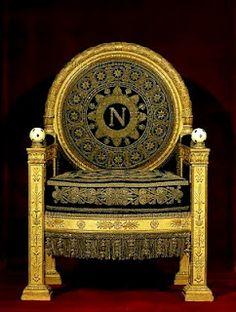 Napoleon's throne- he crowned himself.