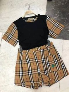 NEW ARRIVALS😍 These gorgeous top and shorts are now available 😍 . Slide in our dm to place your orders🛍🛍 or whatsapp us on Next day delivery accross UAE Burberry Outfit, Burberry Clothing, Dubai Fashion, Stylish Dresses, Gorgeous Women, Skater Skirt, Girl Fashion, Mini Skirts, Shorts