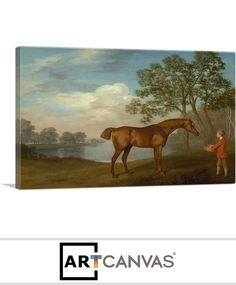 Ready-to-hang Pumpkin with a Stable Lad 1774 Canvas Art Print for Sale canvas art print for sale. Free hanging accessories and insurance. Art Prints For Sale, Stables, Canvas Art Prints, Moose Art, Pumpkin, Painting, Animals, Animales, Animaux