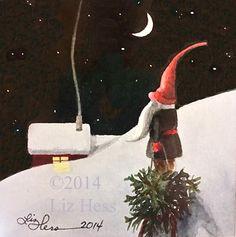 Gnome Advent -- by Liz Hess (b.1964, American)