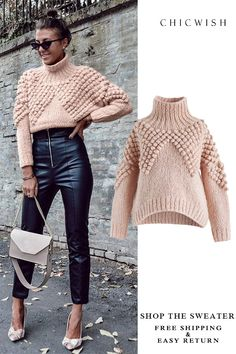 As Peppy As You Are Pom-Pom Turtleneck Sweater featured by cristinasurdu Search results for: 'as peppy as You' - Retro, Indie and Unique Fashion Fall Outfits ideas for Winter fashion 2019 - Fashion Winter Sweaters, Sweater Weather, Women's Sweaters, Fall Winter Outfits, Winter Fashion, Knit Fashion, Womens Fashion, Knitwear Fashion, Winter Mode