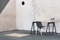 Feist Forest work table and Solidwool Hembury Chair