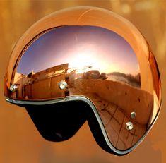 Masei Bronze Chrome 610 Open Face Motorcycle Helmet Free Shipping Worldwide