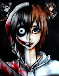 Jeff and Jane the Killer Before and After