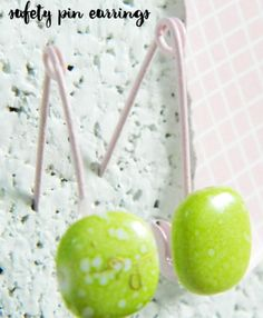 Safety pin earrings are a fun and creative way to make easy jewelry.