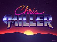 Chris Miller - retro logo by Signalnoise.