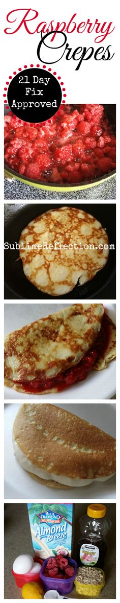 Yummy crepes made out of oatmeal so they are gluten free!  21 Day Fix approved!