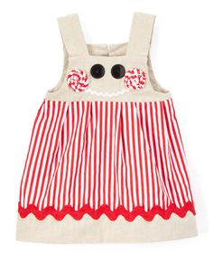 Look what I found on #zulily! Brown & Red Stripe Kelly A-Line Dress - Infant & Toddler #zulilyfinds