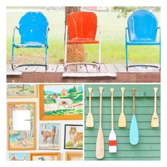 Camping color love brought to you by one of my fav books.... Found, Free & Flea ! The pics are taken from Camp Wandawega in Elkhorn , Wisconsin . All the cabins are decked out with vintage . It's on my bucket list to stay there !    #Wisconsin #campstyle #motelchairs  #glamping #paintbynumbers #collection  #roadtrip