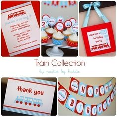 train party printabls