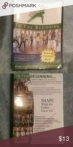 BEGINNER'S FUN, FULL-BODY WORKOUT DVD This DVD is a 25min workout suitable for the beginner or the more experienced! Recently purchased with a few other workout DVD's and my daughter and I have been using the same one over and over. (It is more her type of music..lol) This has been opened and watched but only once. Shazzy fitness is designed to complement the busy lifestyle of today's Christian. Excercises body while uplifts your spirit! SHAZZY FITNESS  Other