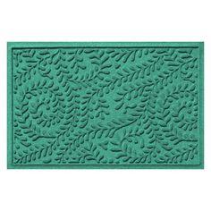 Bungalow Flooring Indoor / Outdoor Water Guard Boxwood Leaf Mat