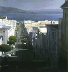 San Francisco. To the Bay From Nob Hill oil on linen // Ben Aronson