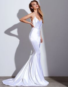 2018 Mermaid Prom Dress Evening Dress Spaghetti Straps Prom Dresses Cowl Back Open . - 2018 Mermaid Prom Dress Evening Dress Spaghetti Straps Prom Dresses Cowl Back Open Back Evening Dre - Straps Prom Dresses, Prom Dresses 2018, Satin Dresses, Elegant Dresses, Beautiful Dresses, Formal Dresses, Wedding Dresses, Dress Prom, White Satin Dress