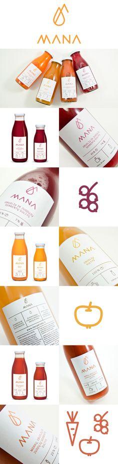 label / mana / juice / food / drink / minimal