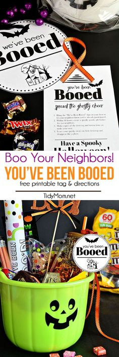 You've Been Booed!! Download your free Boo Your Neighbors Printables at TidyMom.net and have fun surprising your neighbors this Halloween.