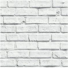 Arthouse White Brick Wallpaper (€11) ❤ liked on Polyvore featuring home, home decor, wallpaper, backgrounds, white wallpaper, paper wallpaper, white pattern wallpaper, pattern wallpaper and white home decor