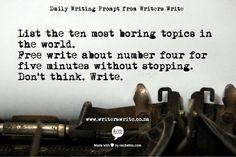 Writing Prompt | Writers Write