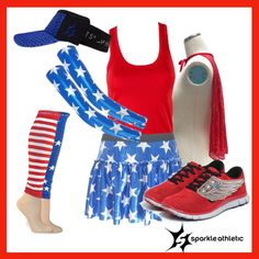 Fourth of July Running Costume | Running | Race Costume | Sparkle Athletic | #TeamSparkle | Patriotic | Athletic Costume