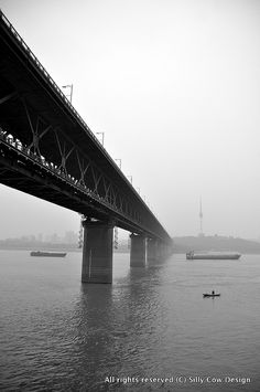 Bride over Yang Tze River, Wuhan 2012, via Flickr.