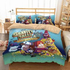 3D Customize Gravity Falls Bedding Set Duvet Cover Set Bedroom Set Bedlinen Bedding Sets Online, Duvet Bedding Sets, Linen Bedding, Custom Bedding, Fall Bedroom, Bedroom Sets, Bed Covers, Duvet Cover Sets, Pillow Covers