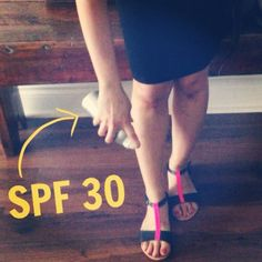 Most people do not apply ‪‎sunscreen‬ to the top of the feet, but it's one of the most common areas where skin cancer is found. Spritz on some SPF on your feet before heading out.