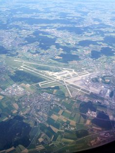 Zurich Kloten airport from above