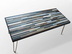 Modern Wood Coffee Table with Hairpin Legs - Furniture - Tables - Desk - Etsy - Modern Rustic Art