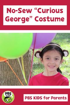 Make a simple Curious George costume at home! Kids of all ages can pull this one off with just a few household supplies. Curious George Halloween Costume, Halloween Kids, Halloween Costumes, Pbs Kids, Crafts For Kids, Household, Parents, Sewing, Simple