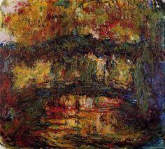 The Japanese Bridge 4, 1924 by Claude Monet. Impressionism. landscape