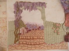 An English Country Garden ~ Embroidered Quilt