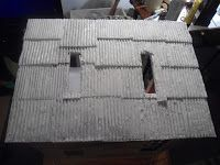 Maria's Minis: Making A Corrugated Metal Roof: Part 1