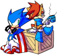 Sally: All right Sonic let's get to work (#BOSS BUT NICE)