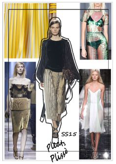 #trend #ss15 #ss14 #spring #summer #simonamartinelli #pleats #plissé #lanvin #stellamcartney #fashion #show #