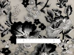 Novelty Metallic Embroidered Tulle with Floral Degradé