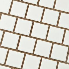 Merola Tile Metro Square Offset Glossy White 10-3/4 in. x 11-3/4 in. x 5 mm Porcelain Mosaic Tile (9.17 sq. ft. /case)-FXLM1OGW - The Home Depot