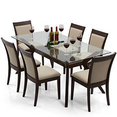 Wesley   Dalla 6 Seater Dining Table Set