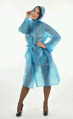 Vinyl Raincoat, Blue Raincoat, Raincoat Jacket, Pvc Raincoat, Plastic Raincoat, Transparent Raincoat, Transparent Clothes, Raincoats For Women, Jackets For Women