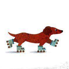 Dog and Skates / zombielondon
