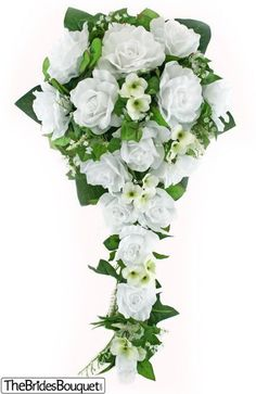 Meer pins voor je bord Bruidsboeketten wit en blauw