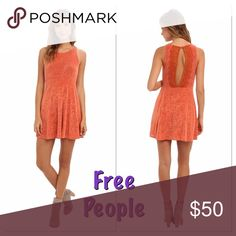 🍁🍂Free People Dress🍂🍁 * Superbly soft velvet dress features an allover swirling textured for a romantic and feminine look. * Round neckline and sleeveless construction. * Gathered empire waist is figure-flattering. * Eye-catching cutout at back with lace trim and button-loop closure. * Straight hemline falls at mid-thigh. * 92% acetate, 8% spandex. * Hand wash cold, dry flat. * Imported.                                                            Length- 34 inches Free People Dresses Mini