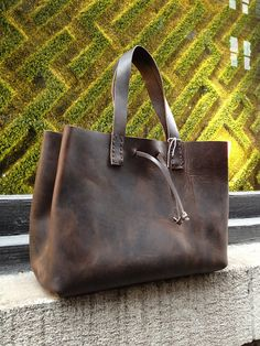 Carry all tote Leather tote purse Leather shoulder bags