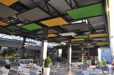 HIB Petrol Gas Station, restauracja,  Armstrong, sufity podwieszane, ceiling, acoustic, sufit akustyczny