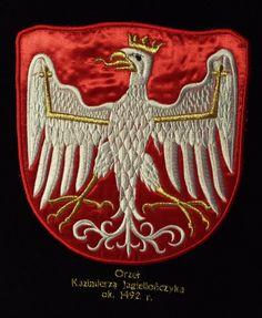 Orzeł biały Kazimierza Jagiellończyka. Haftowany na sztandarze przez AHA STUDIO