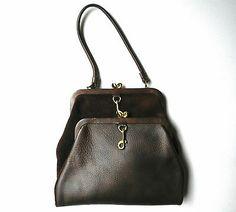Vintage Letisse Bonnie Cashin Style Reversible Pebbled Leather Suede Handbag