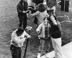 Joe Dante directing Omri Katz during the filming of Eerie, Indiana Tv Show Casting, Very Scary, My Memory, In My Feelings, Paranormal, Indiana, Supernatural, Movie Tv, Behind The Scenes