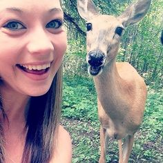 Ever wonder what it'd be like if deer took selfies? Check out these eight deer selfie pictures that show deer making funny faces. Cute Funny Animals, Funny Cute, The Funny, Cute Dogs, Beautiful Creatures, Animals Beautiful, Animal Pictures, Funny Pictures, Deer Photos
