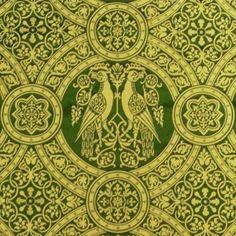 14th century, Damask Medallion, Green