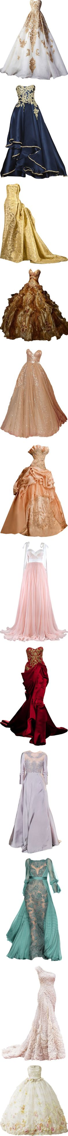 dresses that fuel my desire to be a princess by missherjh on Polyvore featuring dresses, gowns, long dresses, vestidos, long blue evening dress, blue ball gown, blue gown, blue evening dress, marchesa evening gowns and tube dress| I love the first one