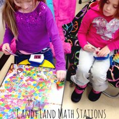 Candy Land Math Stations!